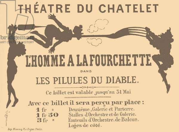 Ticket for the Theatre du Chatelet
