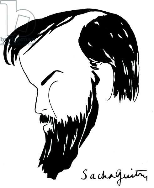 Claude Debussy caricature, 1905