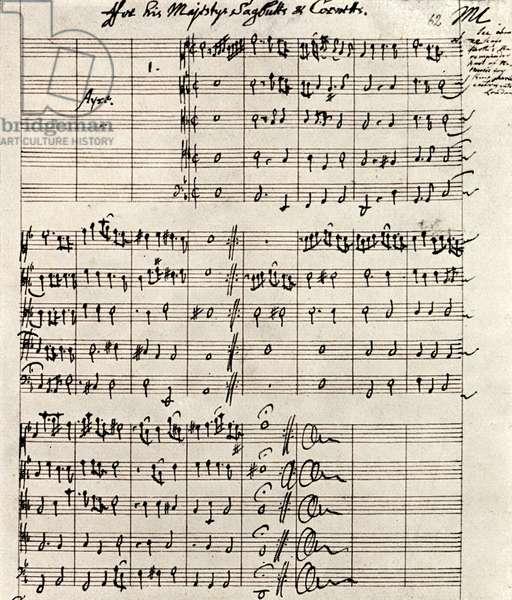 Manuscript score by Mathew Locke