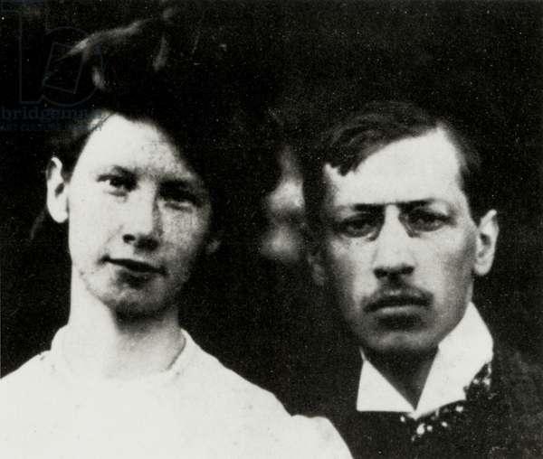 STRAVINSKY Igor with wife