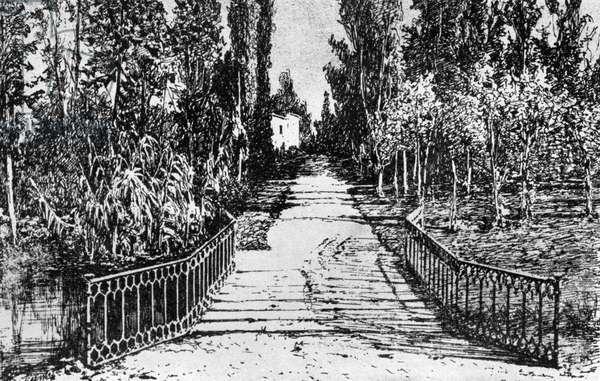 Garden at Villa Verdi at Sant' Agata