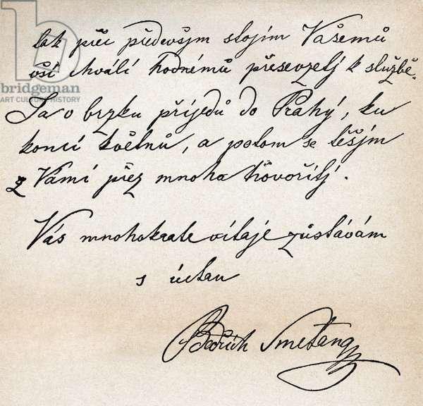 Bedrich Smetana 's signature