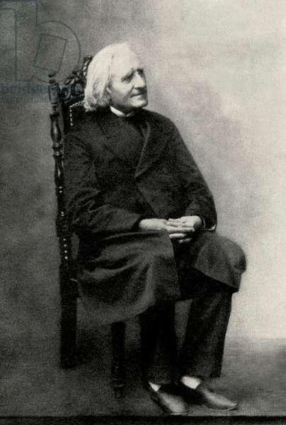 Franz Liszt  seated 1886