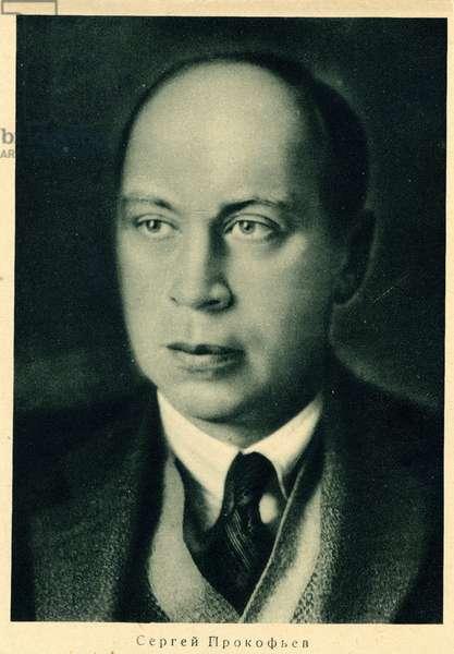 Sergei Prokofiev portrait Russian