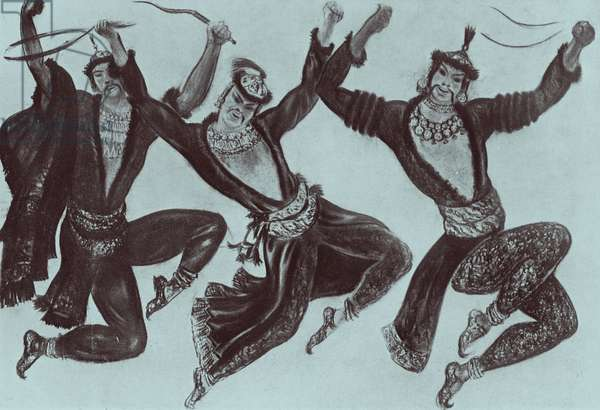 Costume designs for the Polovtsian dancers in 'Prince Igor' by Alexander Borodin