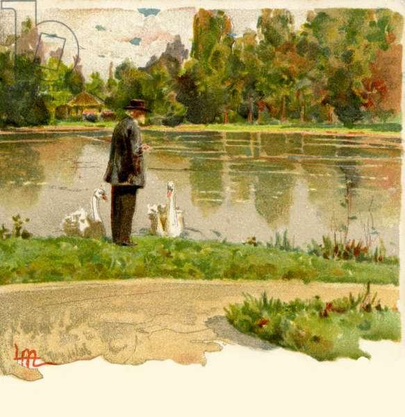 Giuseppe Verdi with the swans