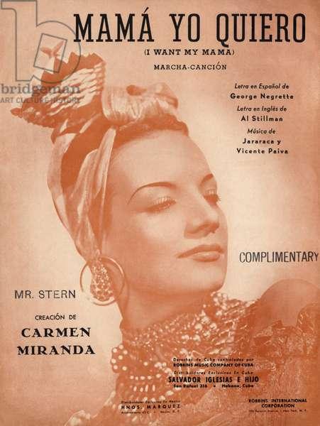 Carmen Miranda on score