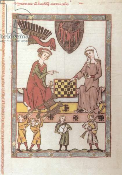 Medieval noble man and
