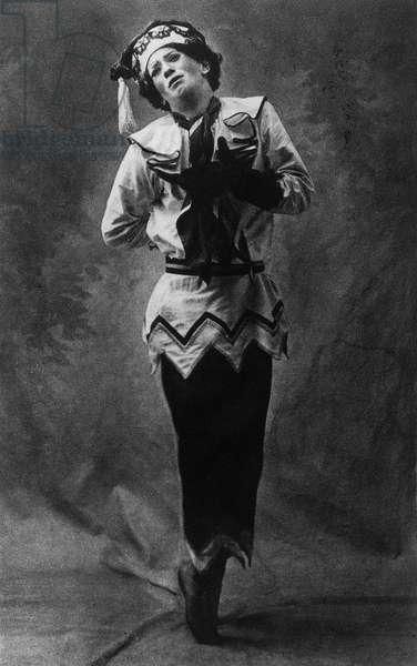 Igor Stravinsky's 'Petrushka' with Nijinsky as Petrushka, 1911 (b/w photo)
