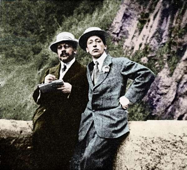Igor Stravinsky with Alexandre