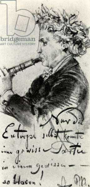 Richard Muhfield - drawing by Adolph von Menzel, 1891
