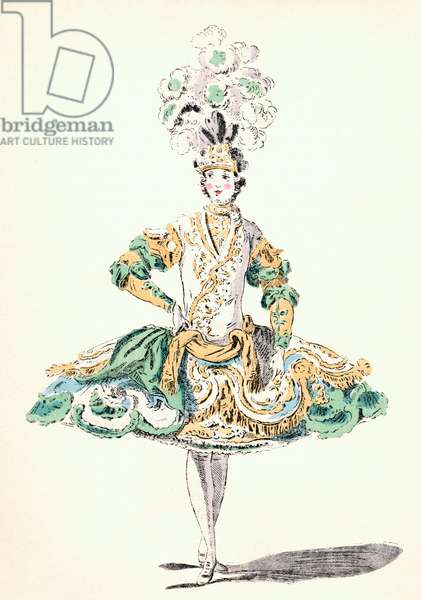 Ballet costume of a