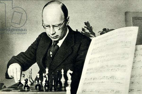 Sergei Prokofiev playing chess