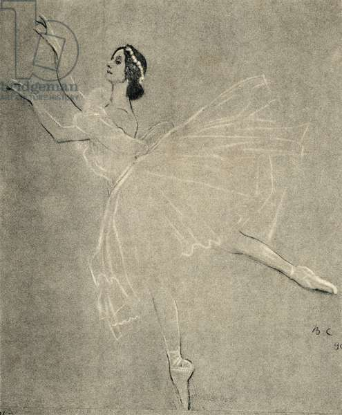 Anna Pavlova in  ballet Les sylphides by F. Chopin.