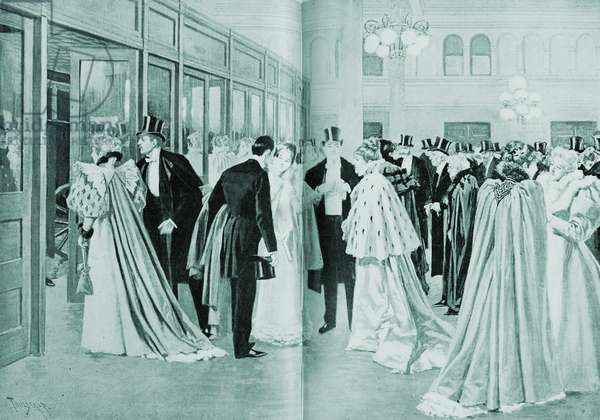 American high society at the opera in the 1890s