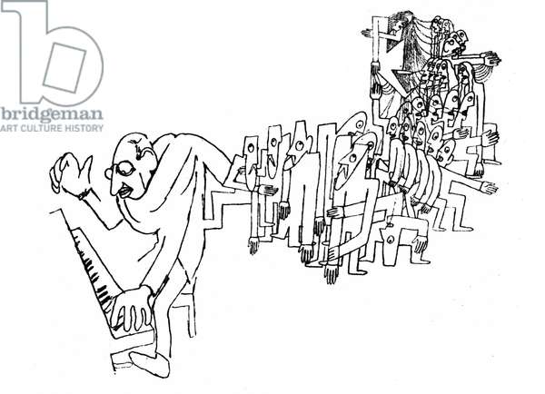 Stravinsky rehearsing 'Sacre de