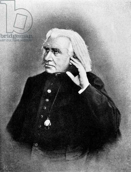 LISZT, Franz- with hand on ear