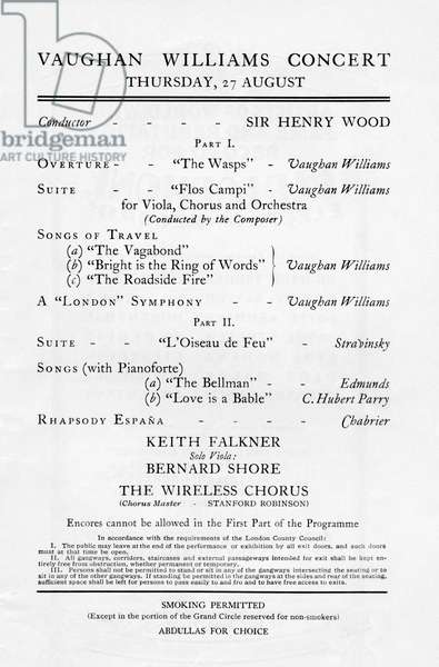 Ralph Vaughan Williams concert