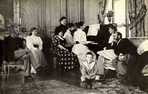 Claude Debussy at piano