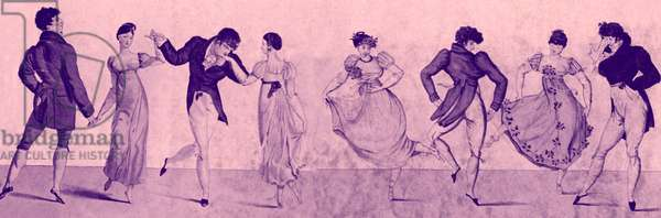 Dancers - illustration after 'Bon Genre', 1810