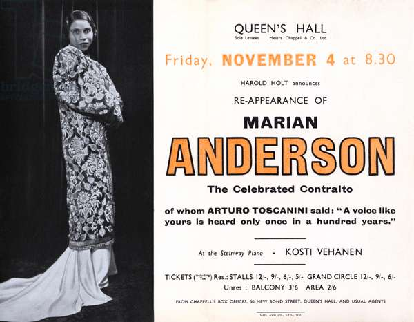 Marian Anderson - programme