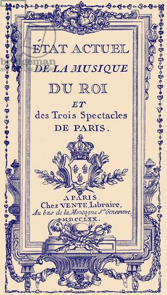 French theatrical almanac 1770