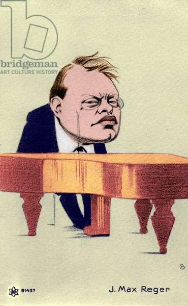 Max Reger at piano
