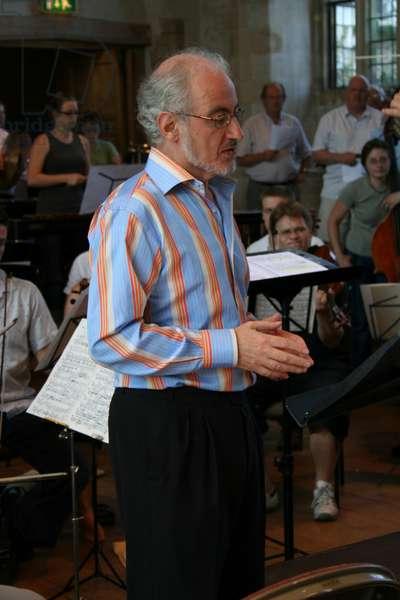 Norman Lebrecht rehearsing narrator