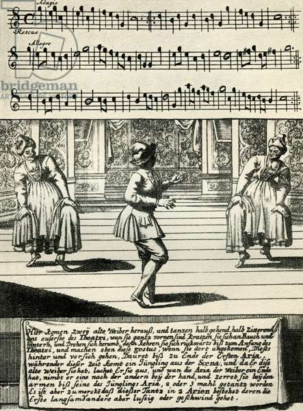 Scene from Lambranzi's 'Dance School'