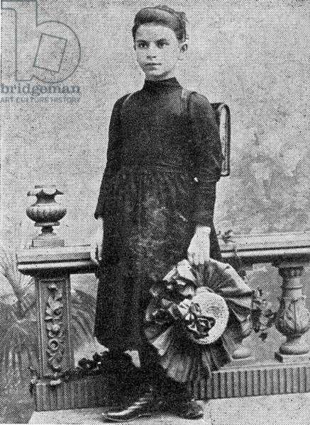 Marie Rambert aged 10 in 1898