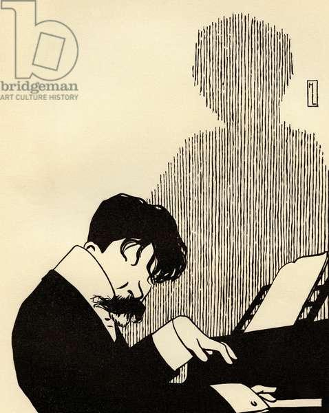 Arthur NIKISCH caricature portrait