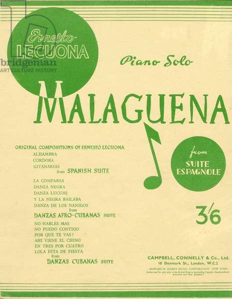 LECUONA Ernesto Piano score