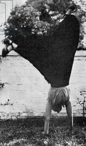 Marie Rambert  performing a cartwheel aged 70