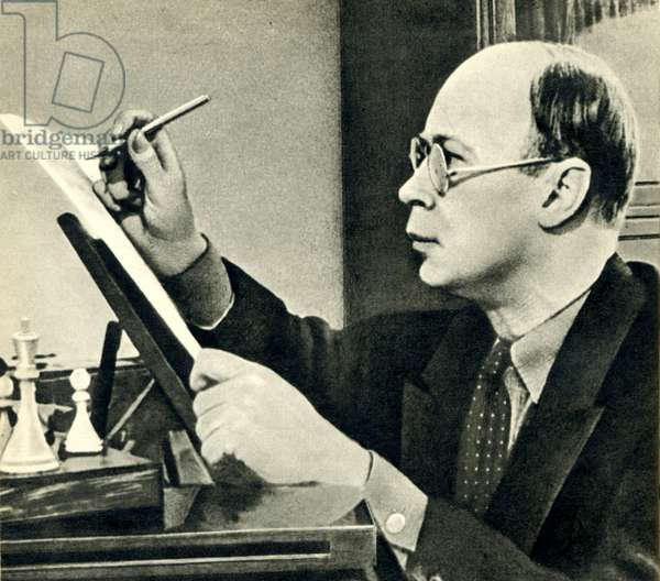 Sergei Prokofiev at work