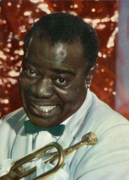 Louis Armstrong with his