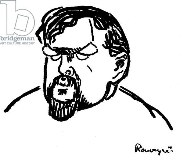 Claude Debussy -caricature  portrait