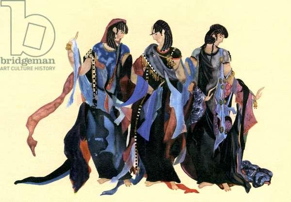 Costume designs for Richard Strauss ' Elektra