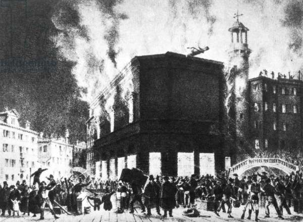 Fire at 'Teatro La Fenice', Vence in 1836