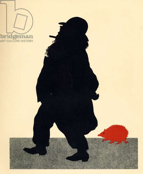 Johannes Brahms and the Red Hedgehog, caricature