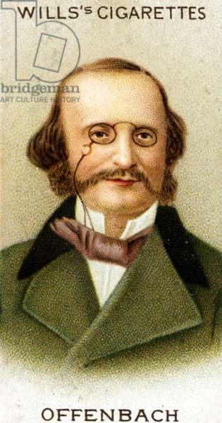 Jacques Offenbach portrait on