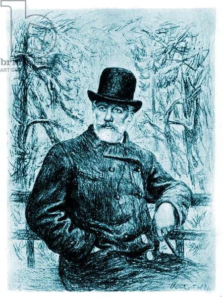 Pyotr Il'yich Tchaikovsky seated