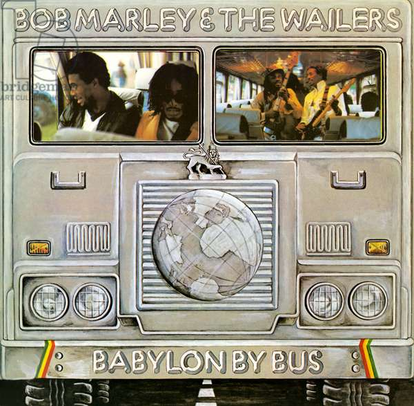 Bob Marley & the Wailers - Babylon by Bus record cover, 1978 (colour litho)