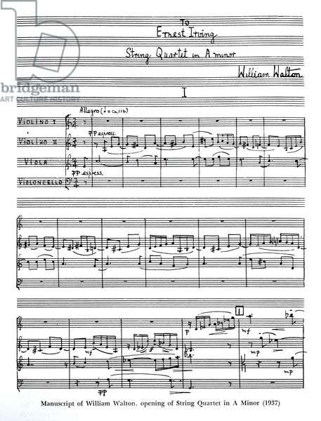 William Walton 's String Quartet in A Minor