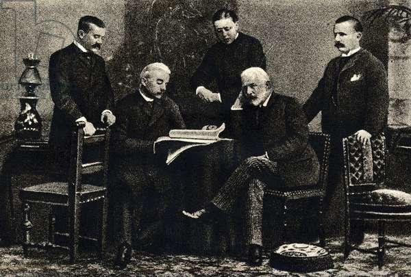 Pyotr Tchaikovsky with his