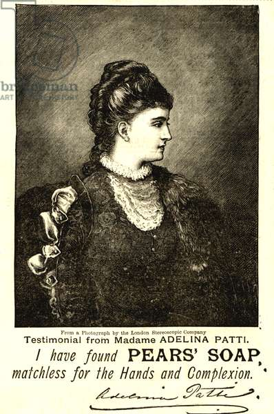 Adelina Patti in an