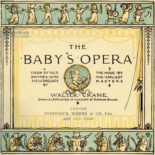 The Baby's Opera title page by Walter Crane