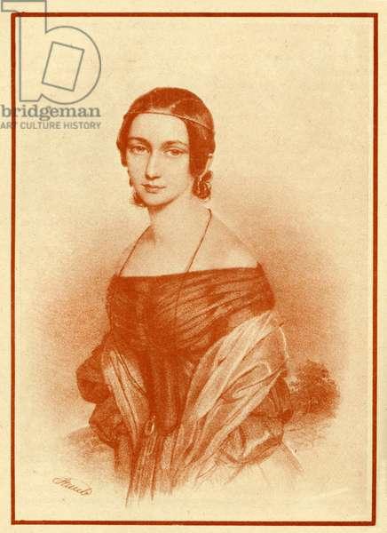 Clara Schumann in 1840