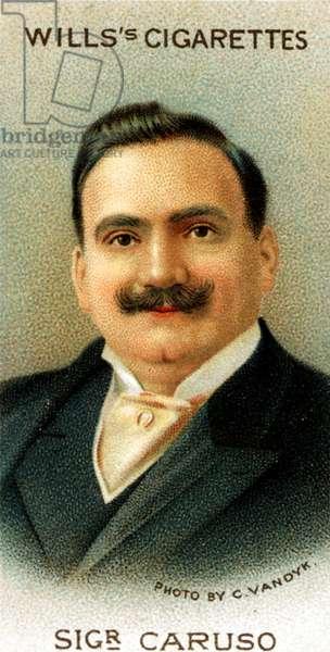 Enrico Caruso portrait on