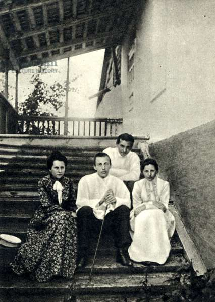 Sergei Rachmaninov with wife, sister-in-law and brother