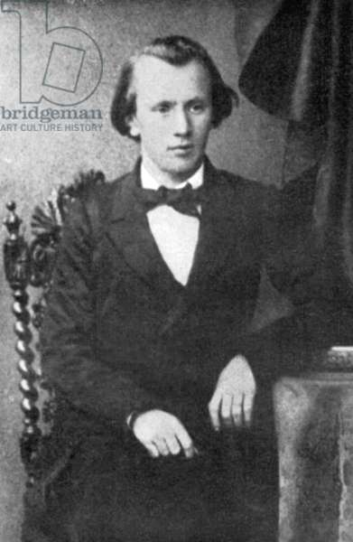 Young Johannes Brahms 1850's